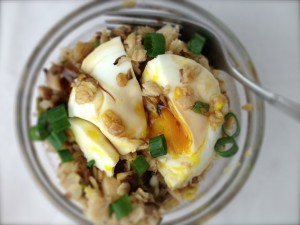 Яйца и овесени ядки