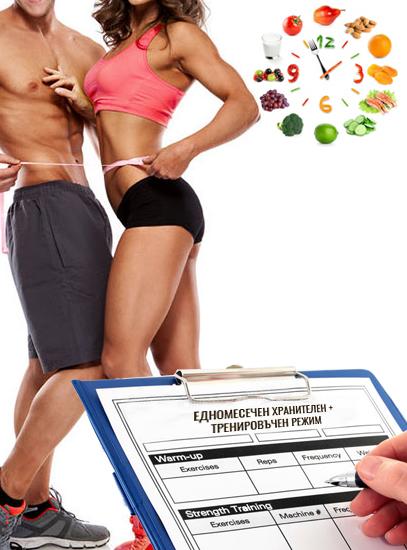 Изготвяне на 1 месечен тренировъчен режим за мъже и жени от фитнес инструктор Кирил Танев