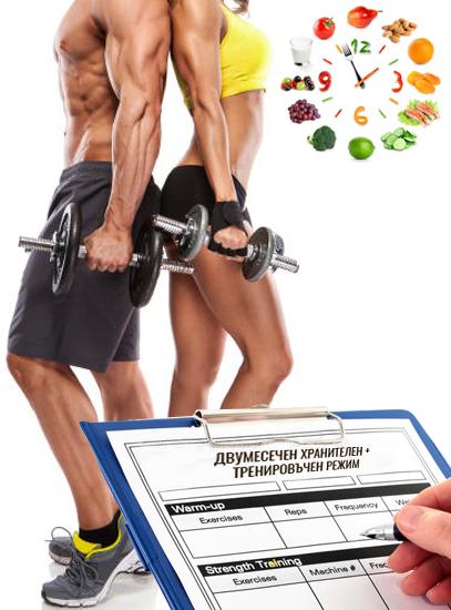 Изготвяне на 2 месечен тренировъчен режим за мъже и жени от фитнес инструктор Кирил Танев