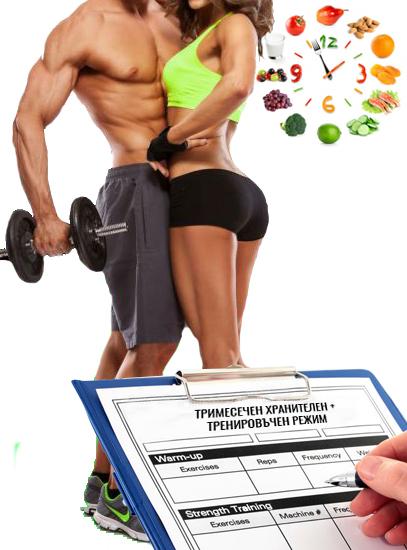 Изготвяне на 3 месечен тренировъчен режим за мъже и жени от фитнес инструктор Кирил Танев